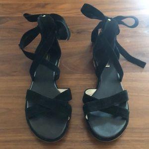 Louise et Cie Black suede strappy sandals